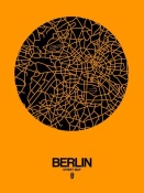 NAXART Studio - Berlin Street Map Yellow