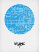 NAXART Studio - Beijing Street Map Blue