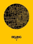 NAXART Studio - Beijing Street Map Yellow