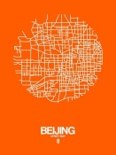 NAXART Studio - Beijing Street Map Orange