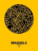 NAXART Studio - Brussels Street Map Yellow