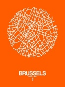 NAXART Studio - Brussels Street Map Orange
