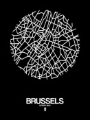 NAXART Studio - Brussels Street Map Black