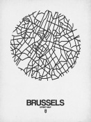 NAXART Studio - Brussels Street Map White
