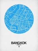 NAXART Studio - Bangkok Street Map Blue