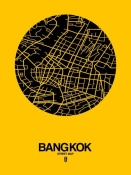 NAXART Studio - Bangkok Street Map Yellow