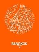 NAXART Studio - Bangkok Street Map Orange