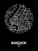 NAXART Studio - Bangkok Street Map Black