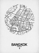 NAXART Studio - Bangkok Street Map White