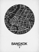 NAXART Studio - Bangkok Street Map Black on White