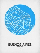 NAXART Studio - Buenos Aires Street Map Blue