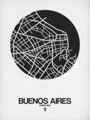 NAXART Studio - Buenos Aires Street Map Black on White