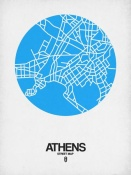 NAXART Studio - Athens Street Map Blue