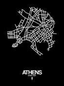 NAXART Studio - Athens Street Map Black