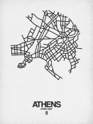 NAXART Studio - Athens Street Map White