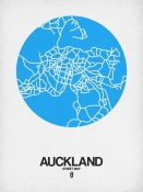 NAXART Studio - Auckland Street Map Blue