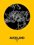 NAXART Studio - Auckland Street Map Yellow