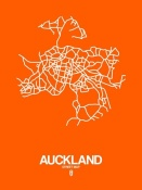 NAXART Studio - Auckland Street Map Orange