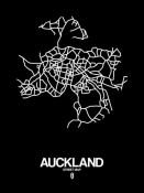 NAXART Studio - Auckland Street Map Black