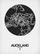 NAXART Studio - Auckland Street Map Black on White