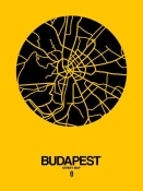 NAXART Studio - Budapest Street Map Yellow