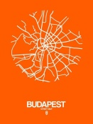 NAXART Studio - Budapest Street Map Orange