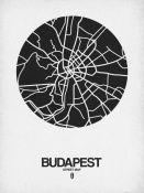 NAXART Studio - Budapest Street Map Black on White