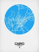 NAXART Studio - Cairo Street Map Blue