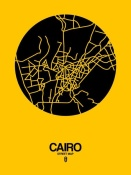 NAXART Studio - Cairo Street Map Yellow