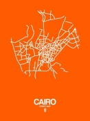 NAXART Studio - Cairo Street Map Orange