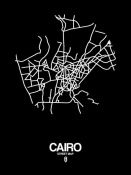 NAXART Studio - Cairo Street Map Black