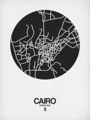 NAXART Studio - Cairo Street Map Black on White