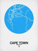 NAXART Studio - Cape Town Street Map Blue