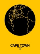 NAXART Studio - Cape Town Street Map Yellow