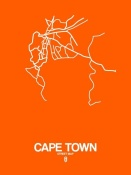 NAXART Studio - Cape Town Street Map Orange