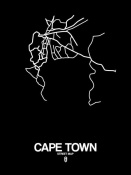 NAXART Studio - Cape Town Street Map Black