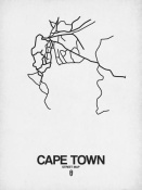 NAXART Studio - Cape Town Street Map White