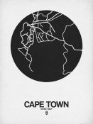 NAXART Studio - Cape Town Street Map Black on White
