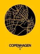 NAXART Studio - Copenhagen Street Map Yellow