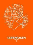 NAXART Studio - Copenhagen Street Map Orange