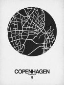 NAXART Studio - Copenhagen Street Map Black on White