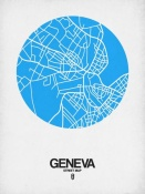 NAXART Studio - Geneva Street Map Blue