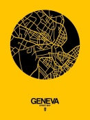 NAXART Studio - Geneva Street Map Yellow