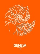 NAXART Studio - Geneva Street Map Orange