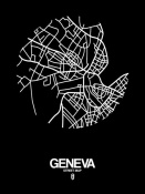 NAXART Studio - Geneva Street Map Black