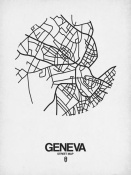 NAXART Studio - Geneva Street Map White