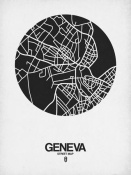 NAXART Studio - Geneva Street Map Black on White