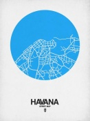 NAXART Studio - Havana Street Map Blue