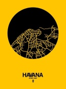 NAXART Studio - Havana Street Map Yellow