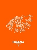 NAXART Studio - Havana Street Map Orange